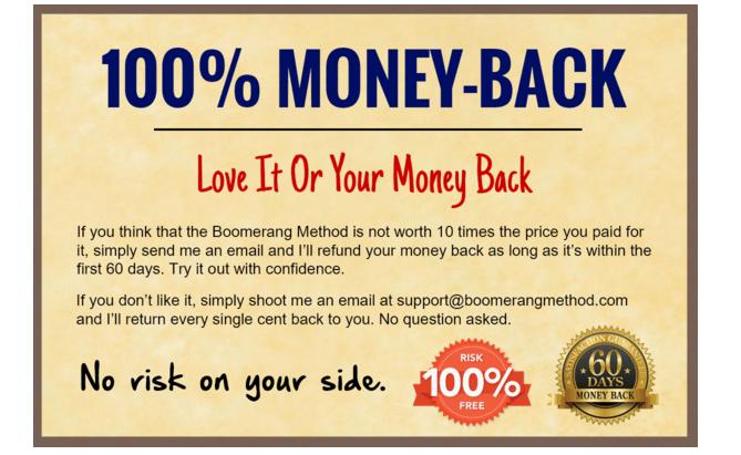 Boomerang Method Review Pricing Gaurantee