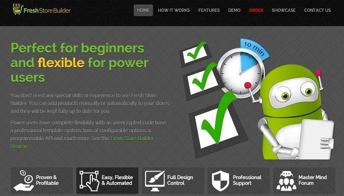 FreshStore homepage review