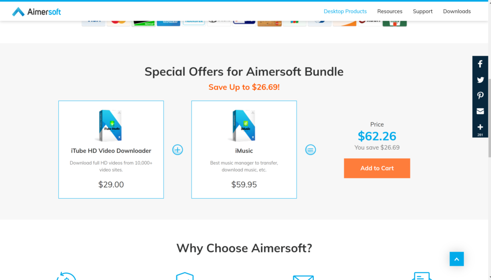 Aimersoft video converetr bundle discounts
