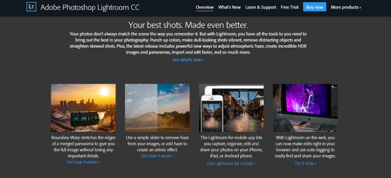 Best Adobe Photoshop Lightroom CC-Best Image Editing Apllication
