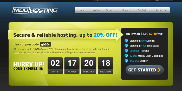 MDDHosting Professional Hosting Solutions Review and coupon codes promo codes