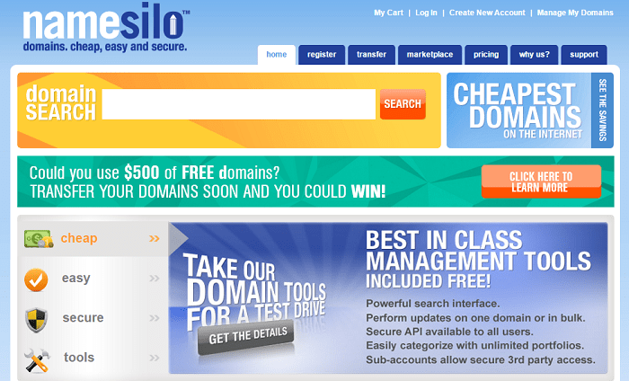 Namesilo Coupon Codes for January 2020:Get 1$ Off!