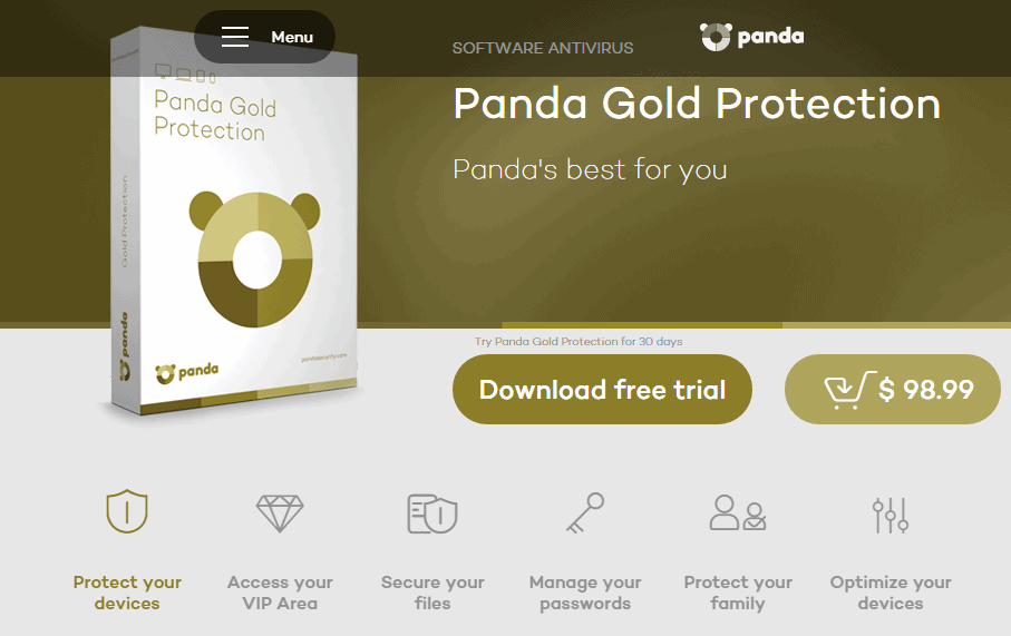 Panda Gold antivirus