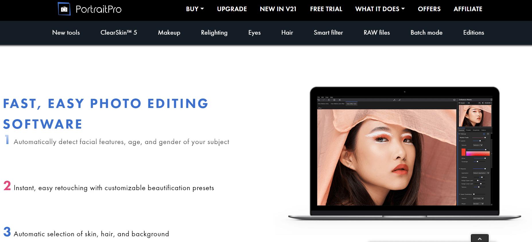 portraitpro features