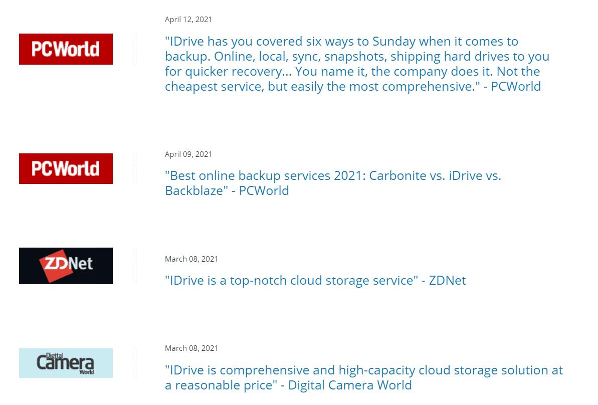 User Review at IDrive