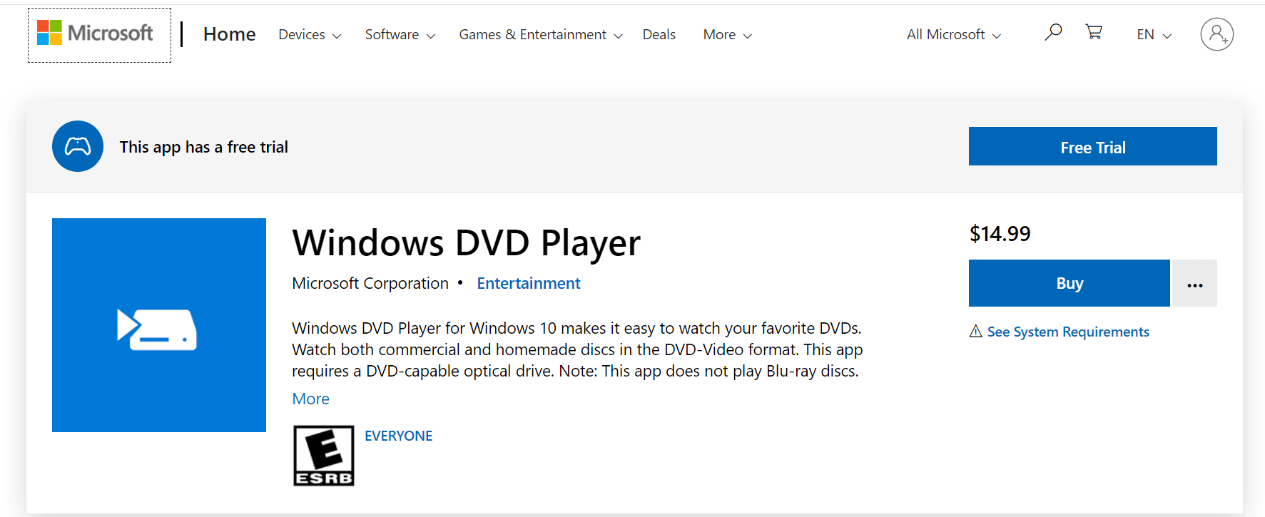 windows dvd player review
