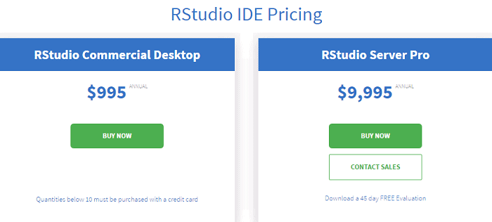 RStudio Pricing