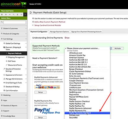 pinnacle cart payments