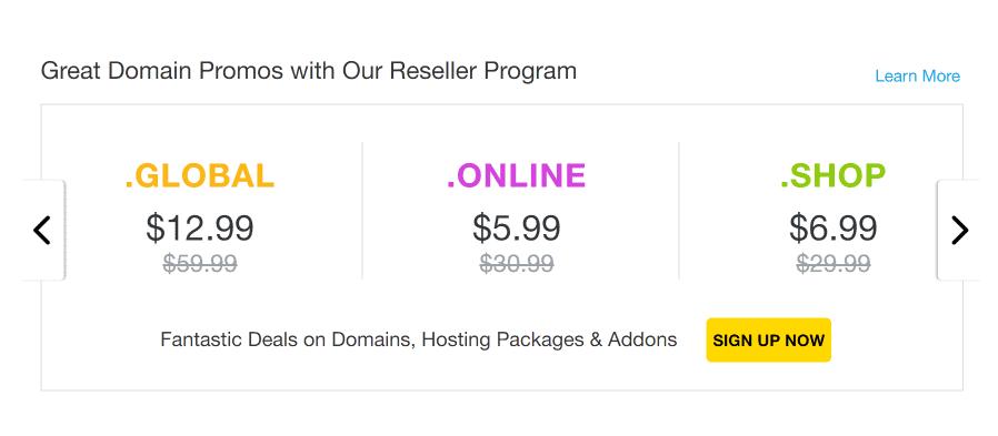 Reseller Hosting Cloud Dedicated VPS ResellerClub Coupon Codes