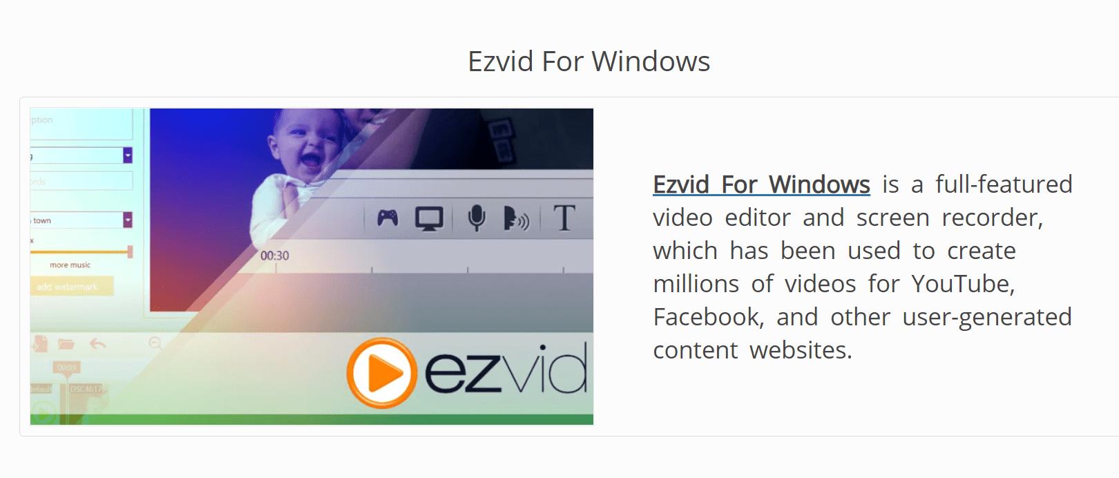 ezvid for windows