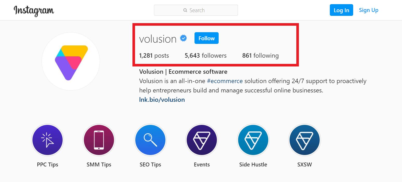 volusion on instagram