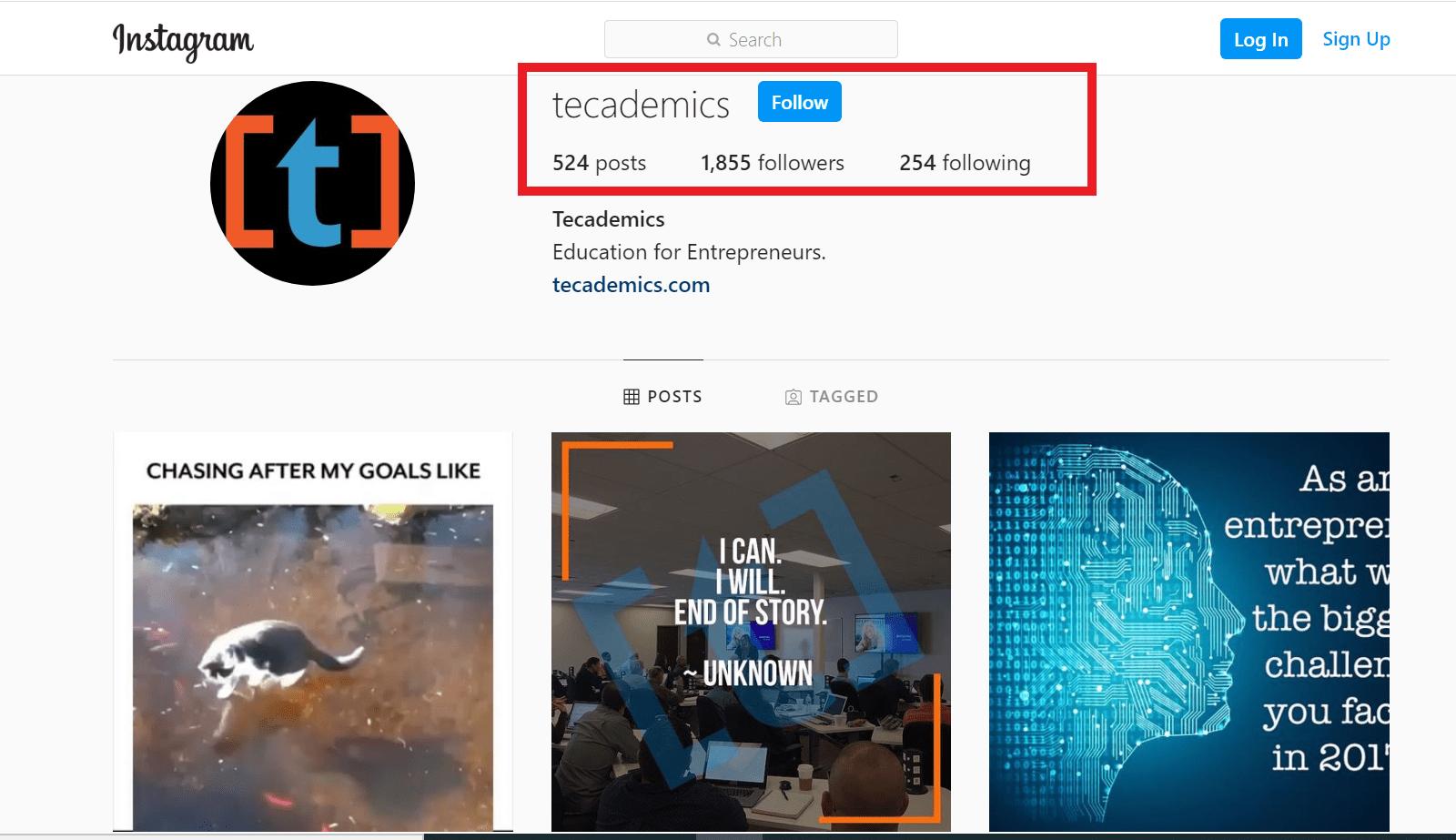 tecademics instagram