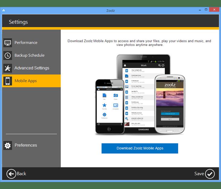 zoolz mobile compatibility