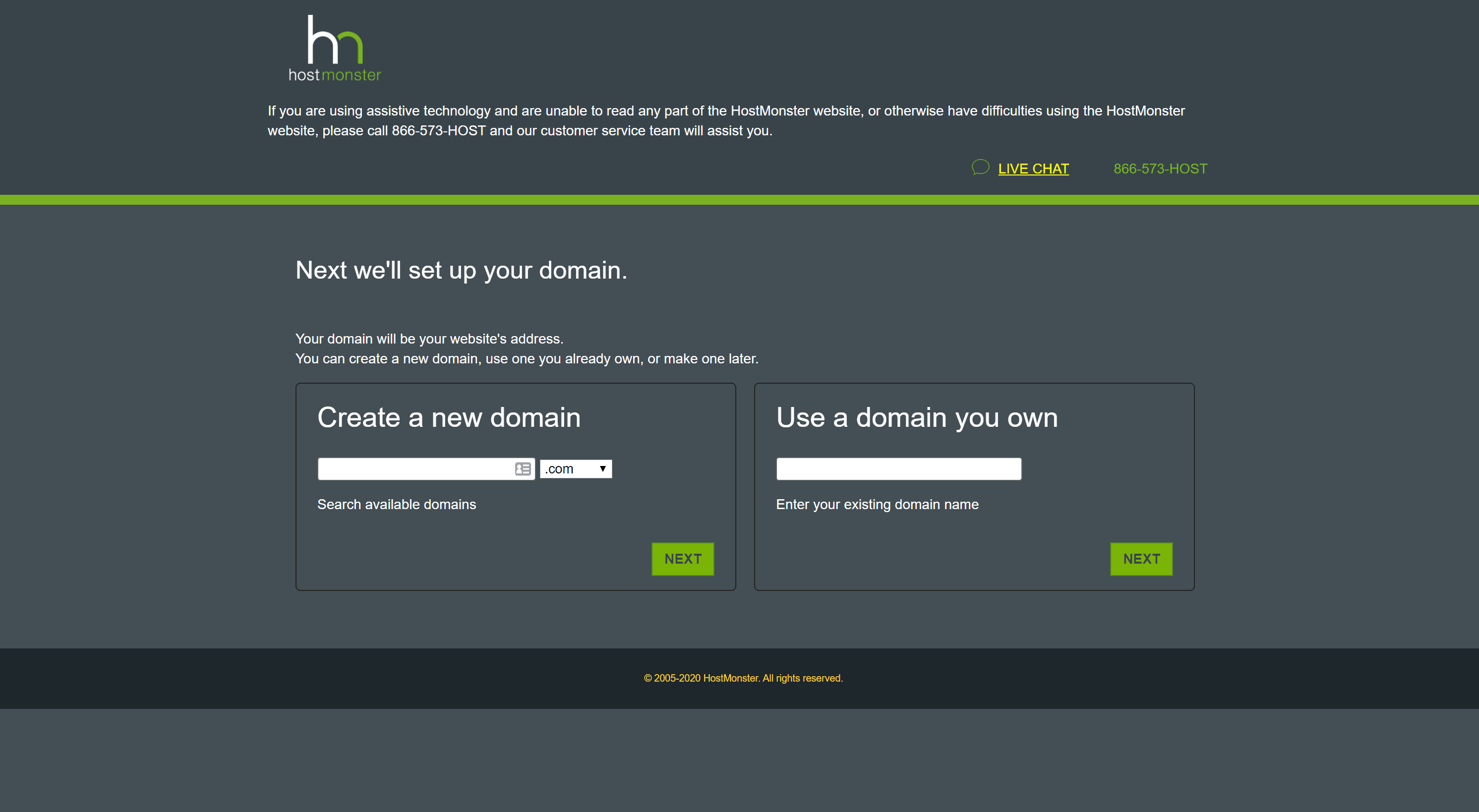 How to signup with Hostmonster