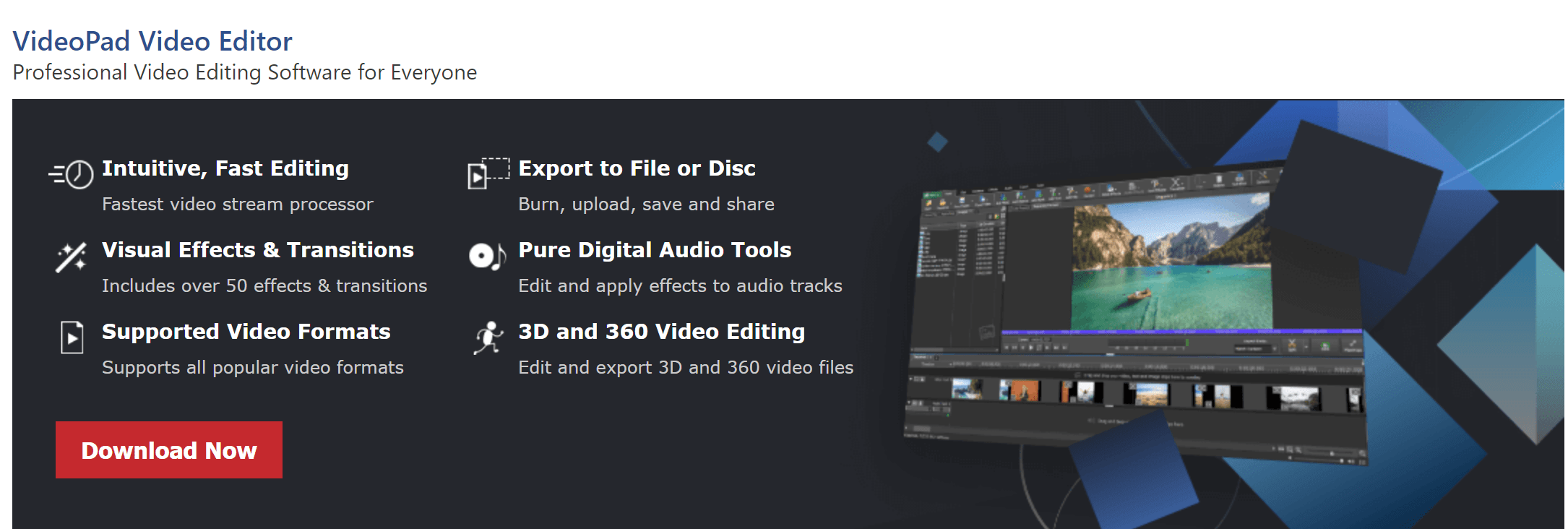Features of videopad pro tool and registration code
