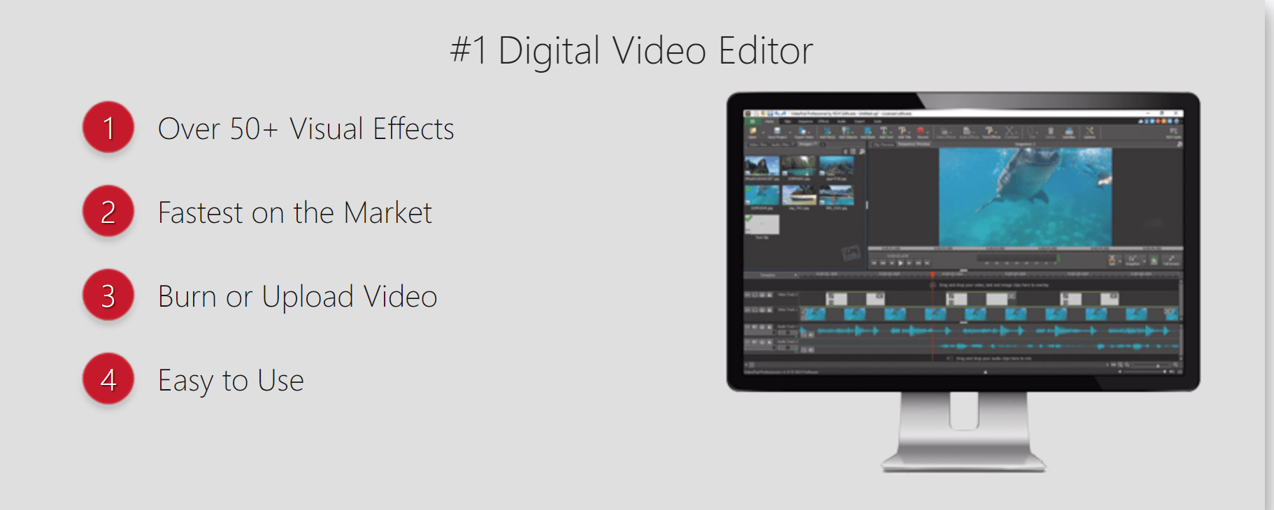 Videopad video editor pro features