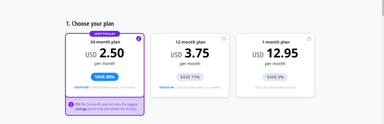 VyprVPN promo code activated for annual plan