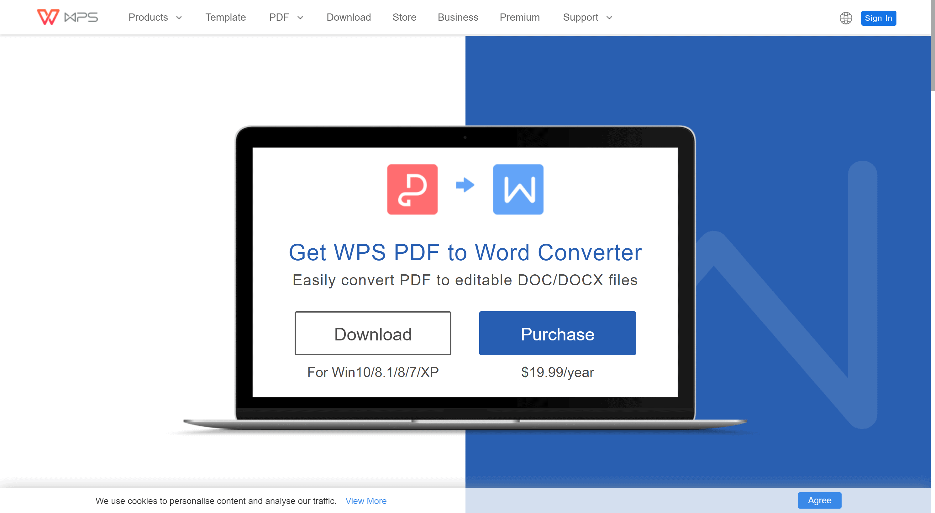 WPS Office converter PDF to word