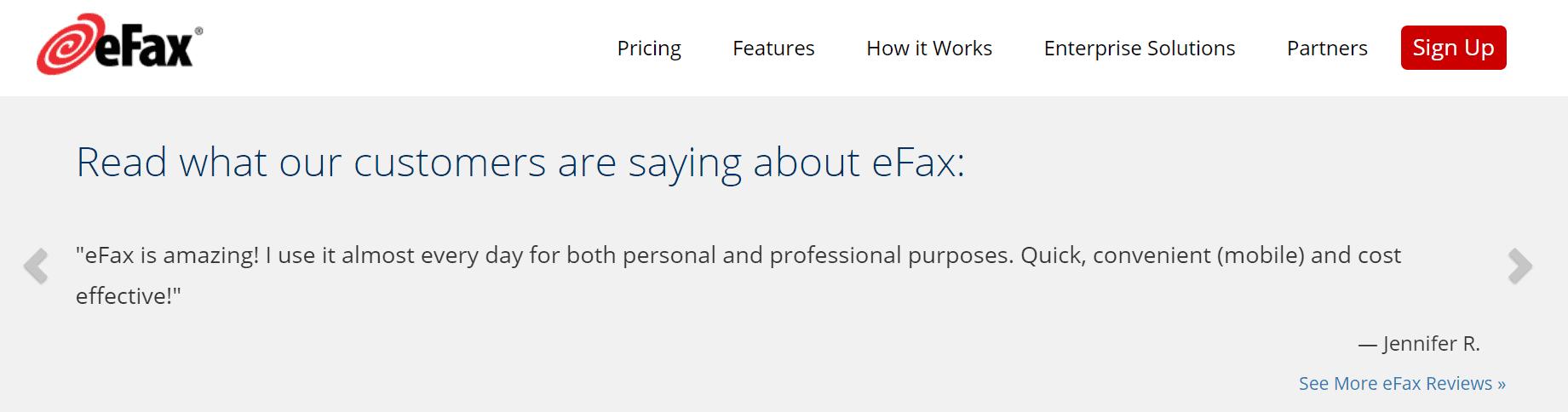 efax customer reviews