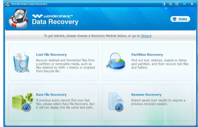 wondershare data recovery review software features