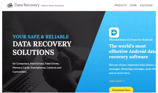 wondershare data recovery review software