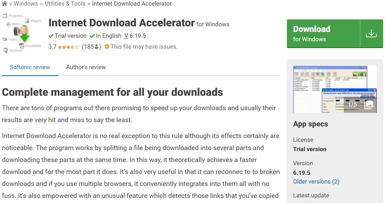 Internet Download Accelerator