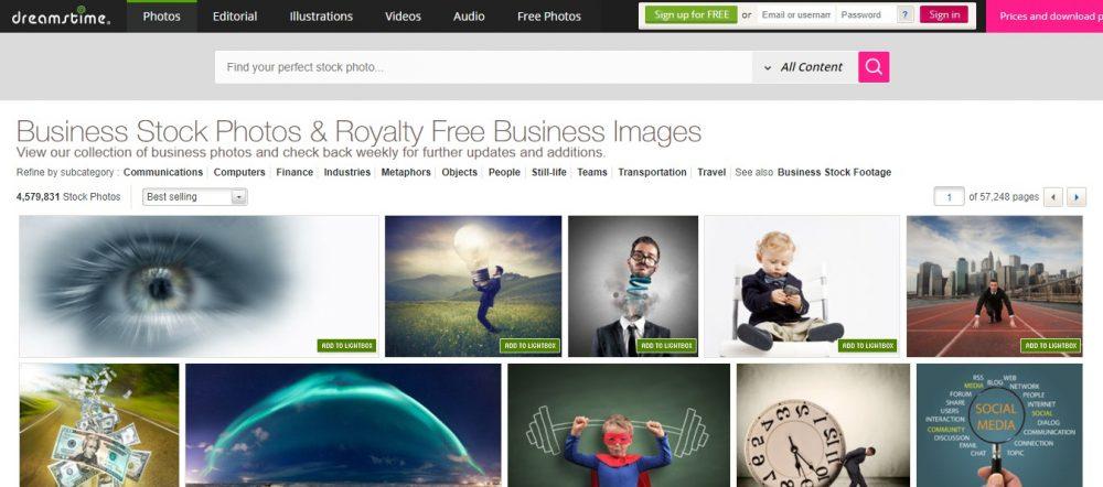 dreamstime images- best istockphoto altermatives