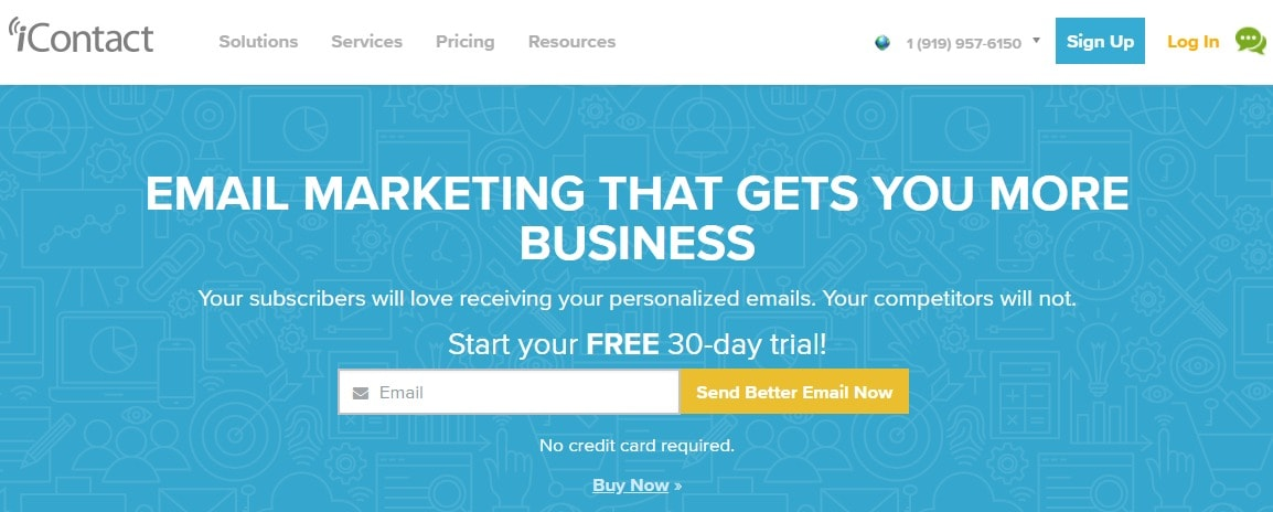 Icontact email marketing business
