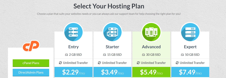 HostMantis Affordable web hosting plan details