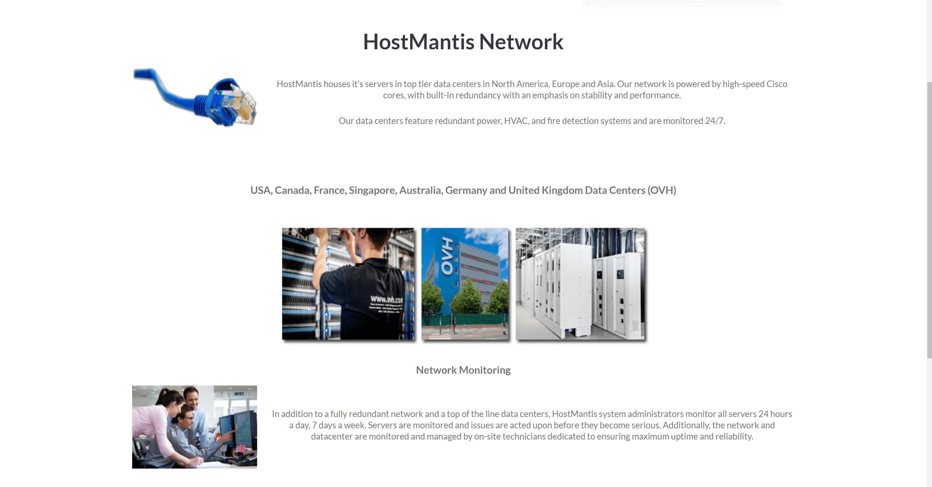 HostMantis Data servers location