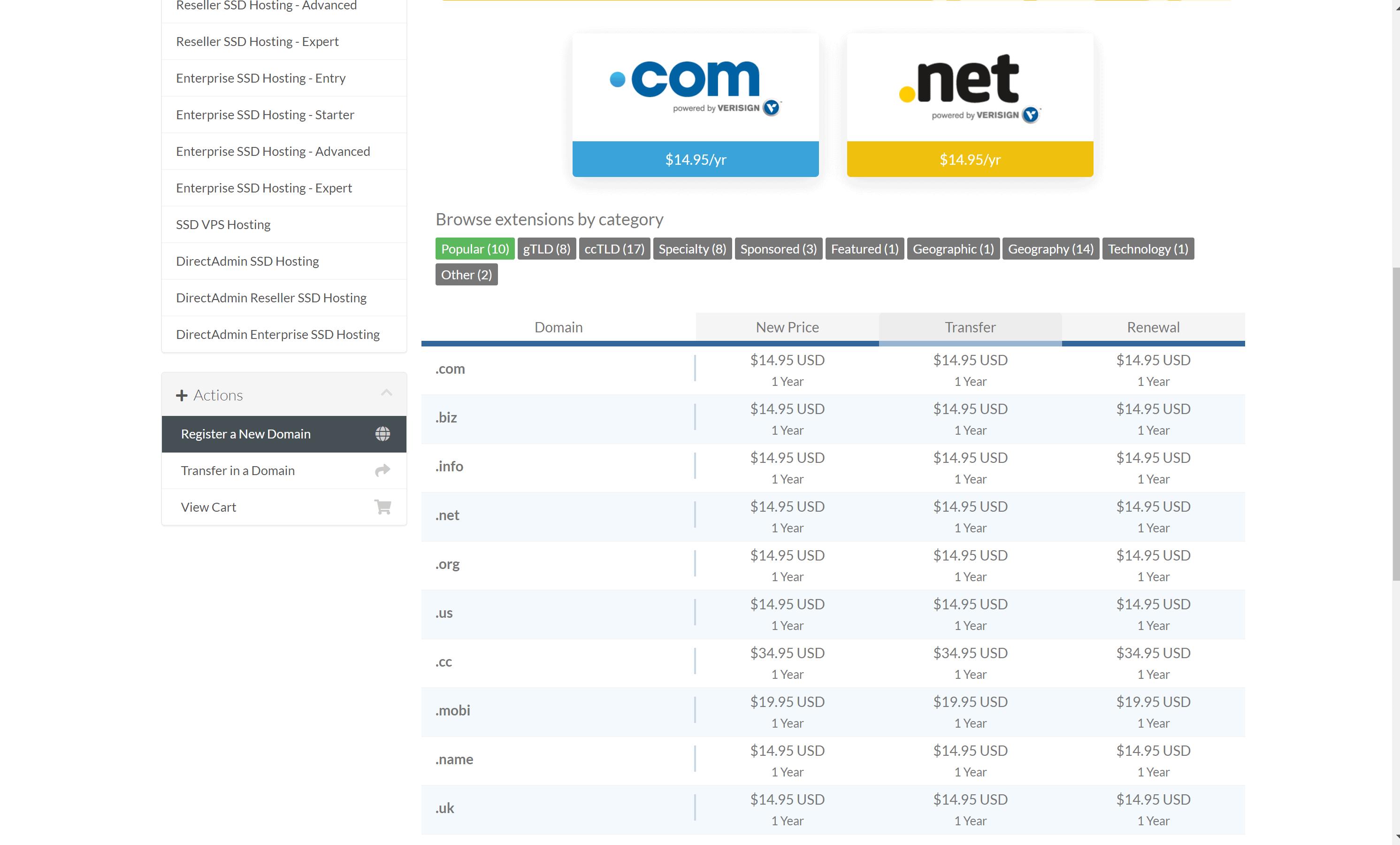 HostMantis Hoisting Domain Registration