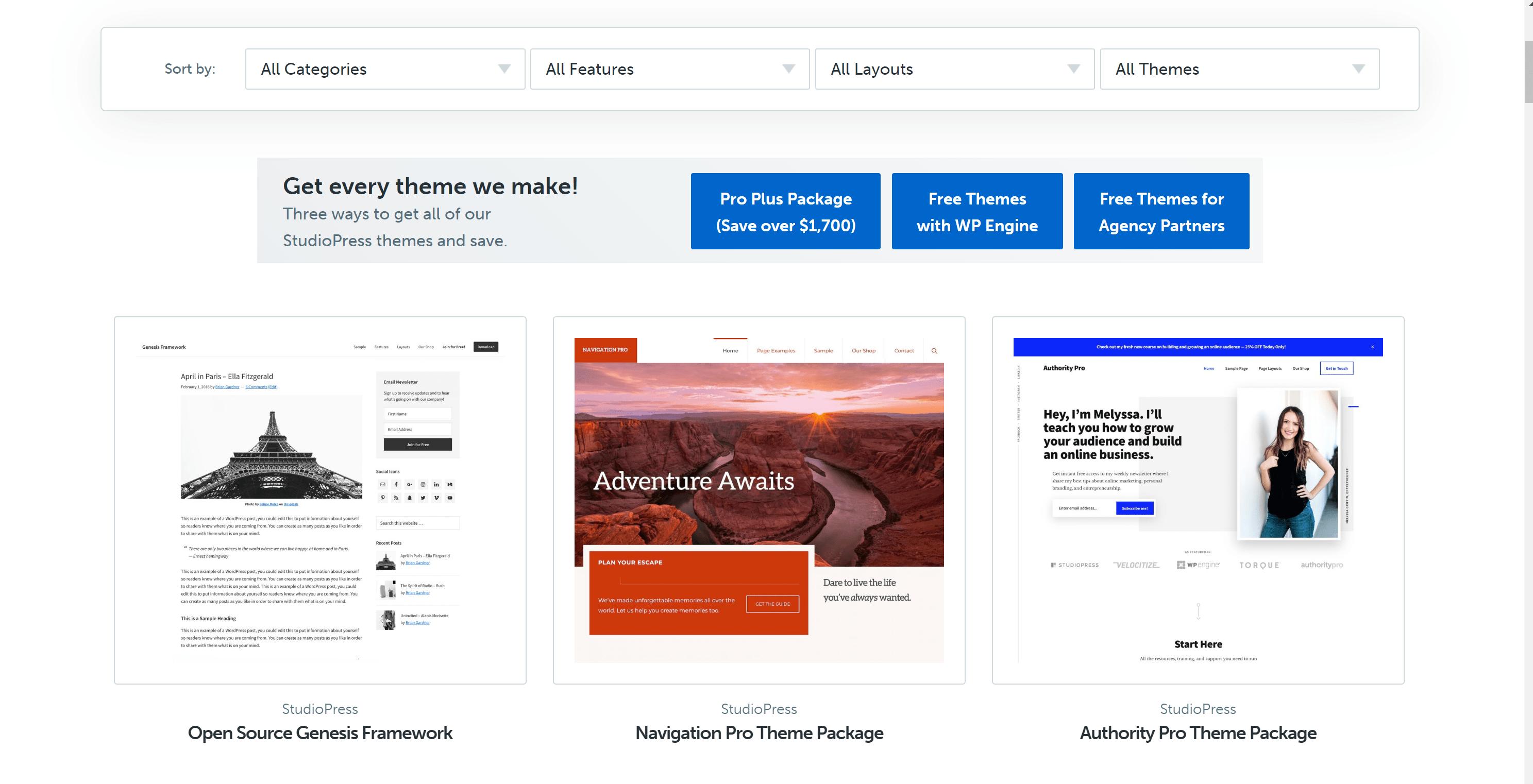 Premium WordPress Themes for StudioPress