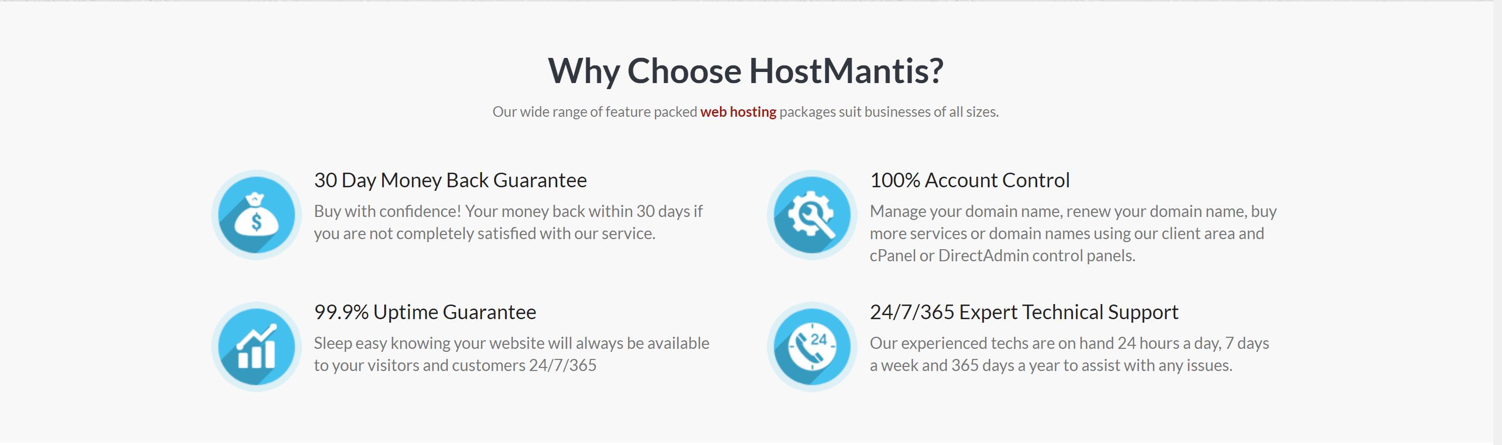 Why choose hostmantis web hosting