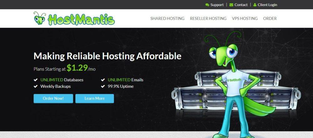 Hostmantis afforfable web hosting logo