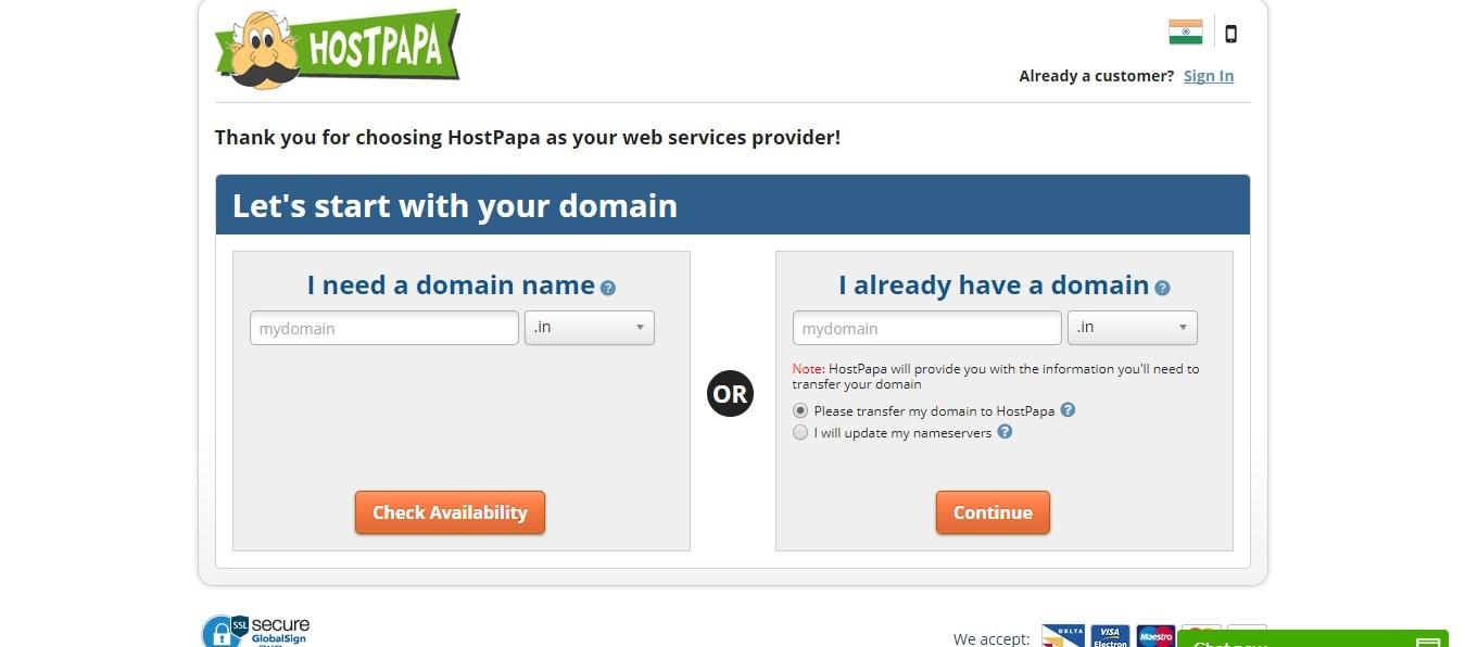 HostPapa Domain