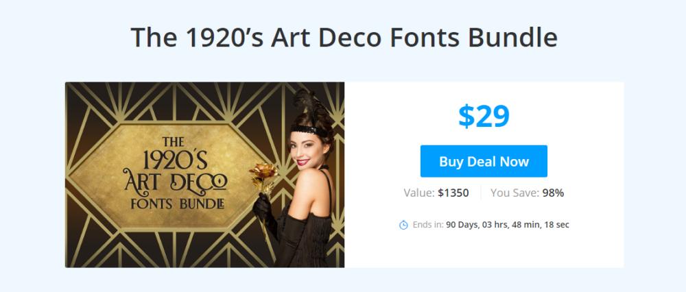 Art Deco Fonts 117 Fonts-Bringing back the roaring twenties