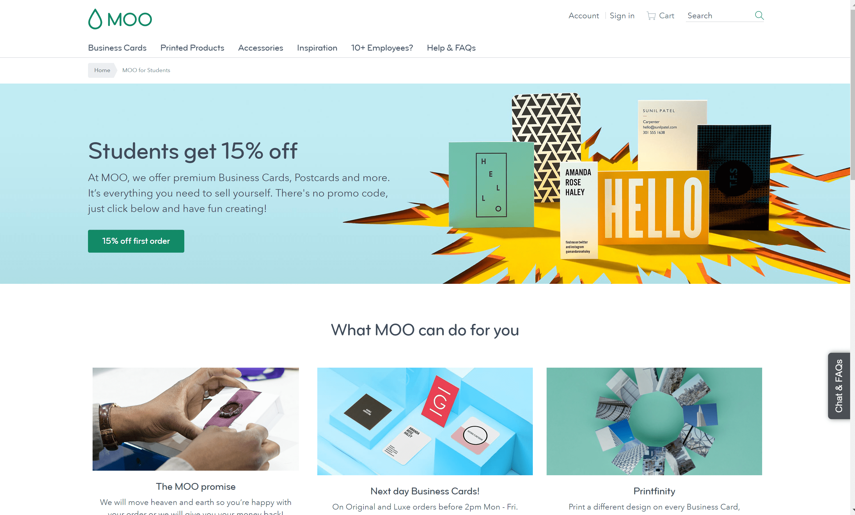Moo discount codes Students offer