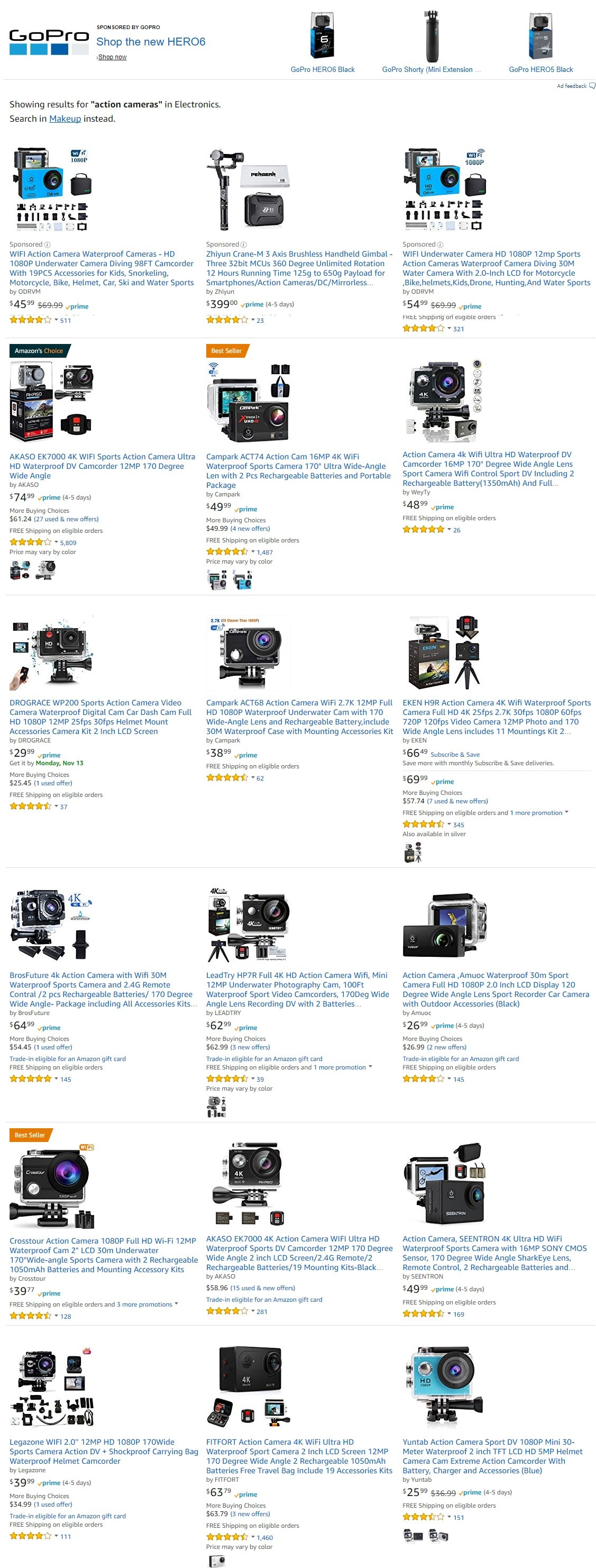 Action Camera products