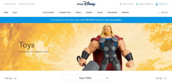 shopdisney toys coupon codes