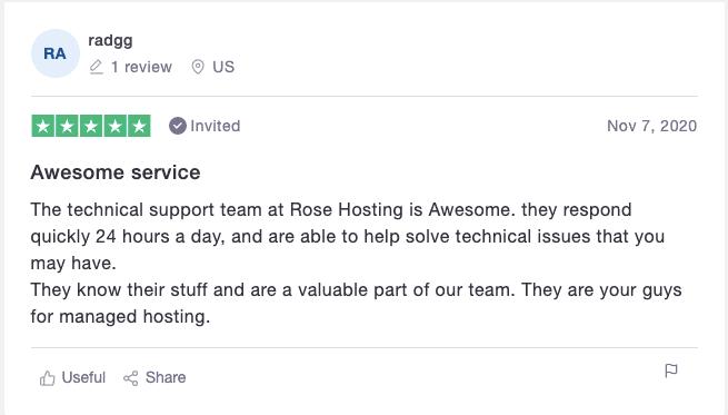 RoseHosting Revi