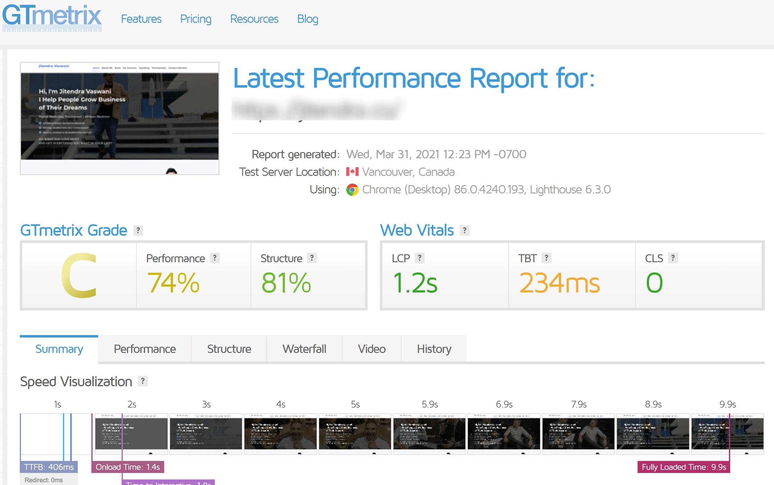 TMD hosting speed test- TMDHosting reviews