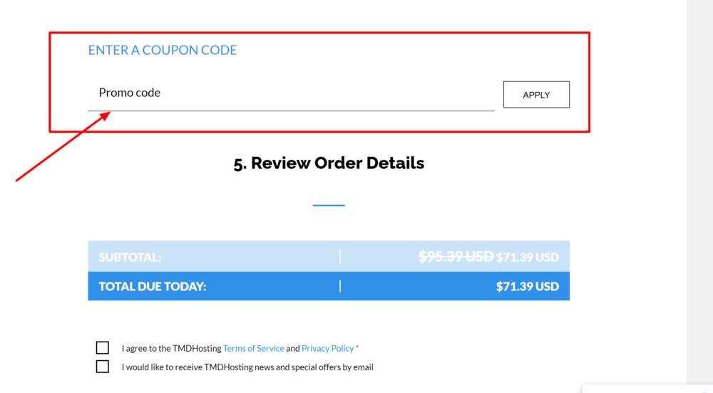 TMDHosting order information- TMDhosting coupons 2020