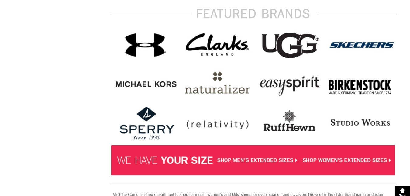 Carson's Coupon codes- Featured Brands