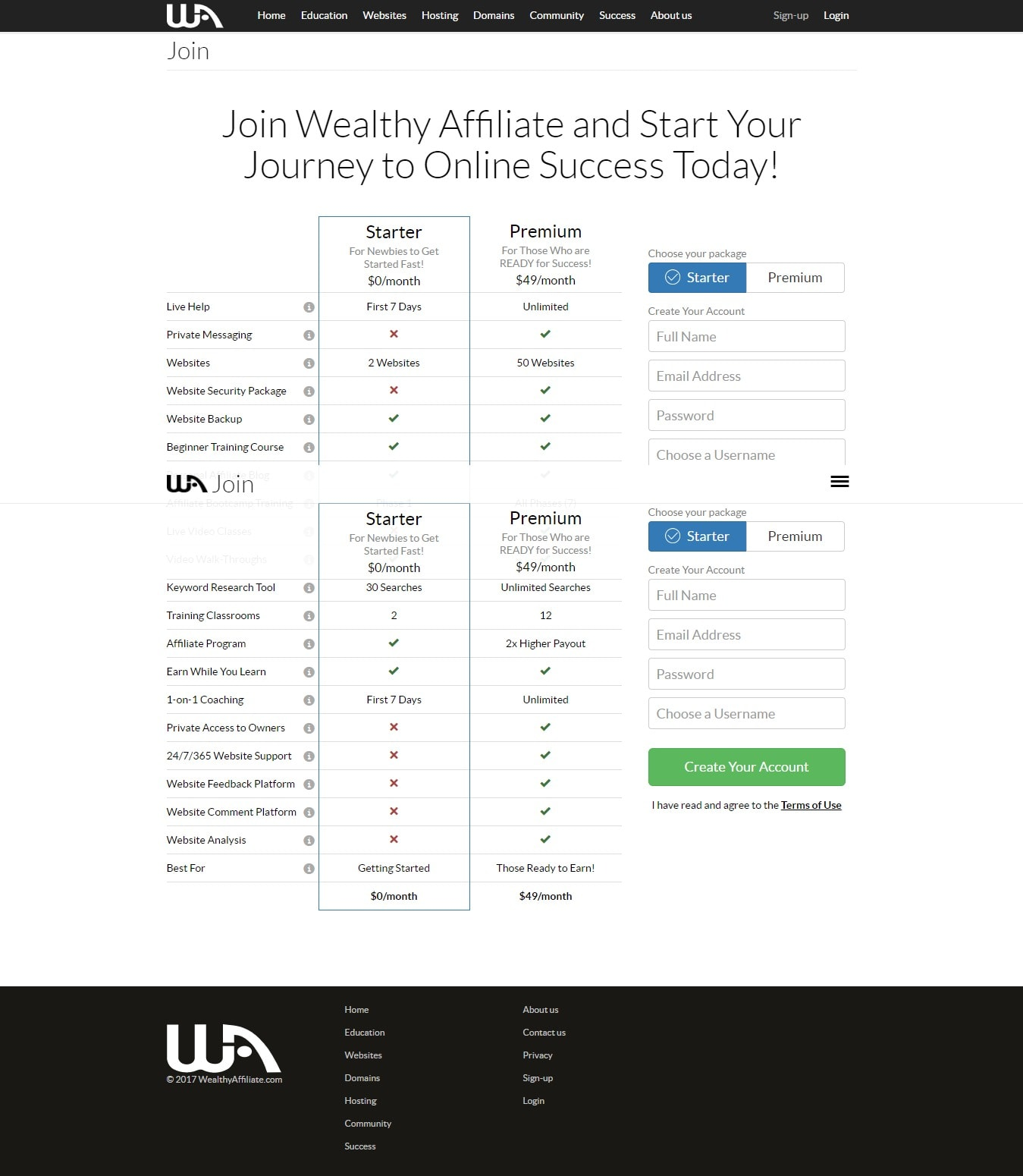 Join Wealthy Affiliate and start your journey