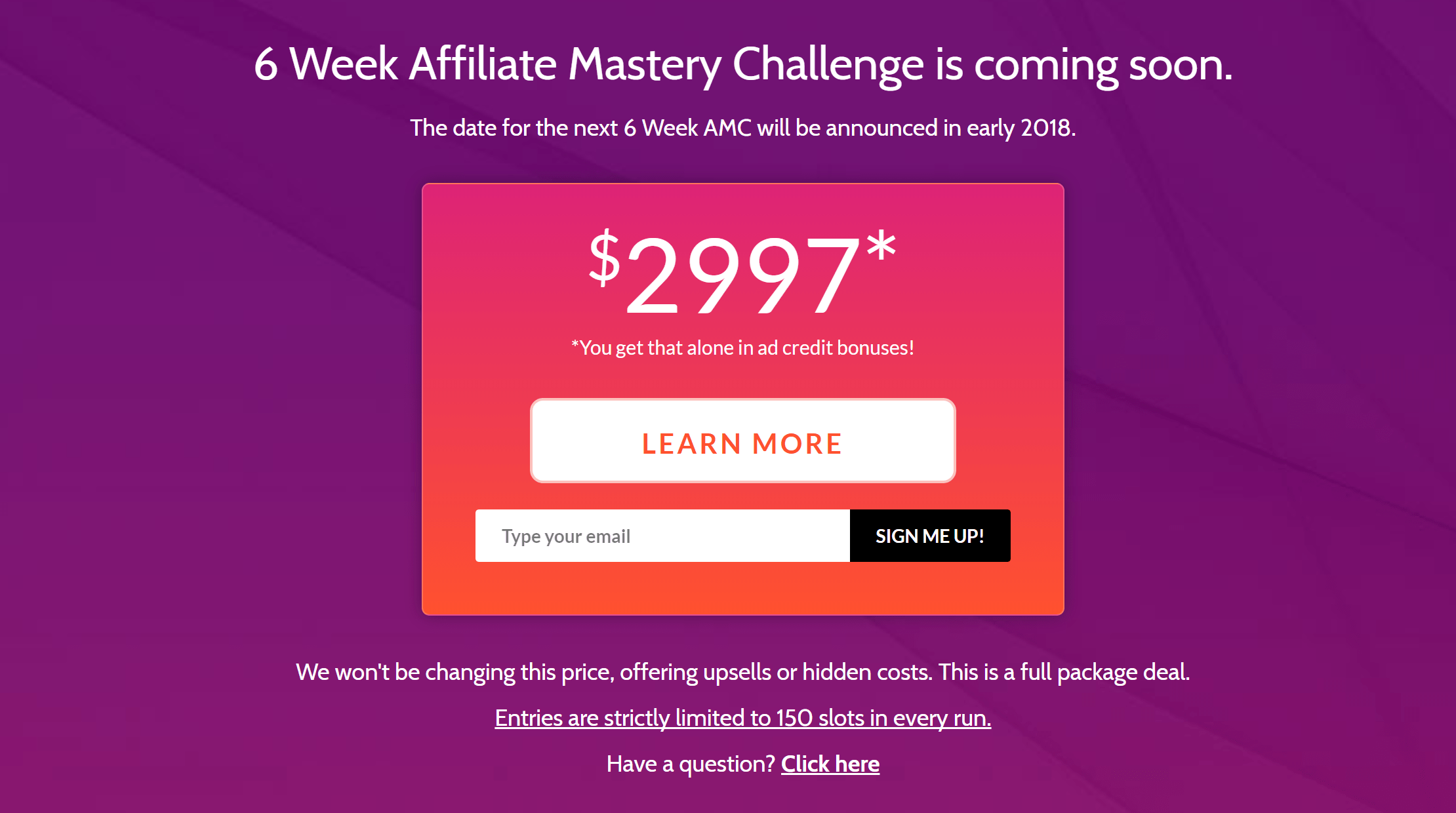 6 Week Affiliate Mastery Challenge Training Review 2018 ...