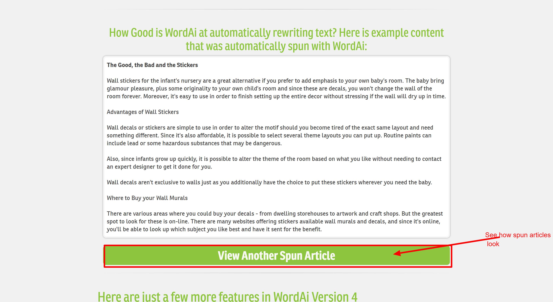WordAI article rewriter discunts