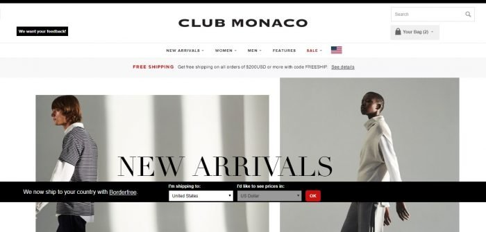 club monaco coupon codes