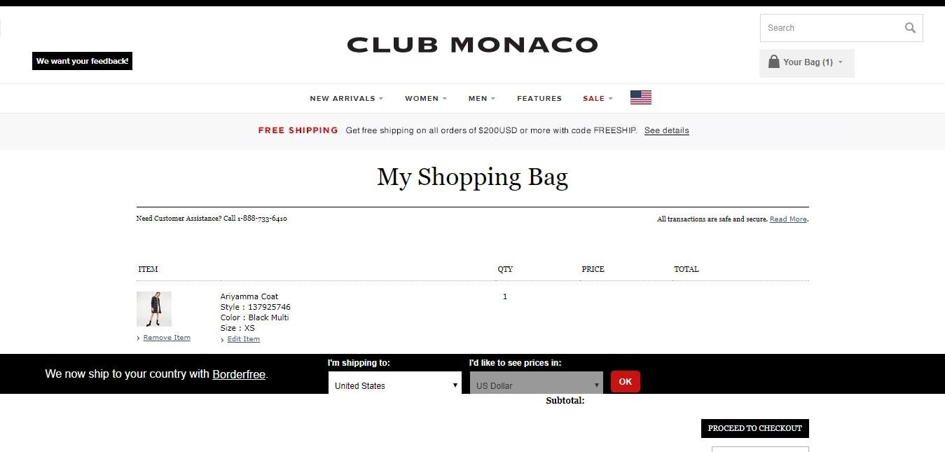 Club Monaco Discount Codes