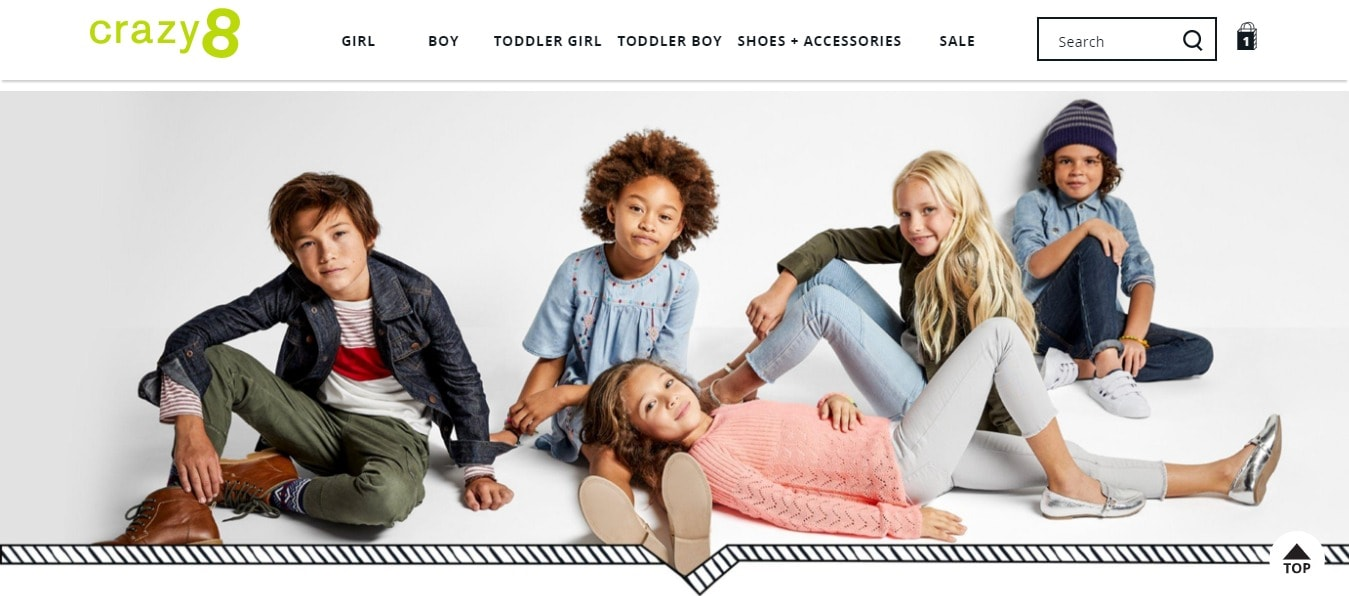 Crazy8 Kids Online Store
