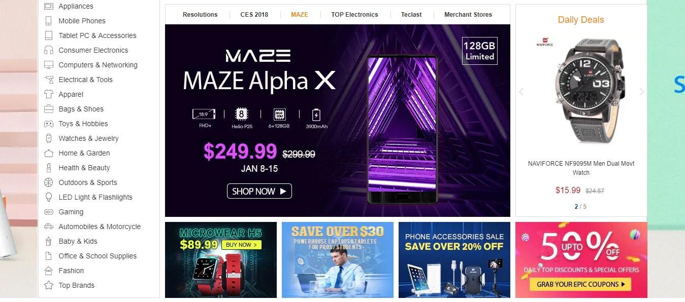 MAZE Alpha GearBest 2020 offers